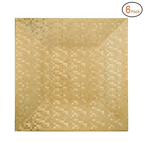 Metal Mosaic Plates (Fantastic:)® 6pcs/Set Mosaic Square 13