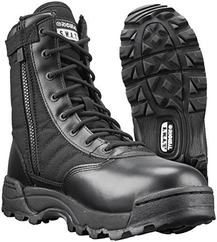 Original SWAT Classic 9in. Side Zip Tactical Boots, Black, Size 09.5 (Tactical Black Swat Leather Boot)