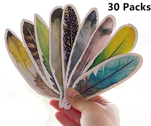 HardNok Bookmarks for Women Men, 30 Pack (Feather) (Bookmarks Women)