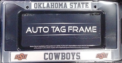 Oklahoma State Cowboys ND Chrome Metal License Plate Tag Frame Cover University