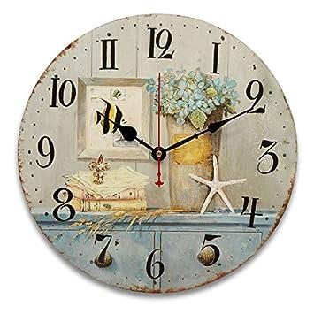 Bluelover 34Cm Vintage Relojes Antiguos Sabor Cocina Retro Estilo Shabby Chic Hogar Cafe Cuadros-#7: Amazon.es: Hogar