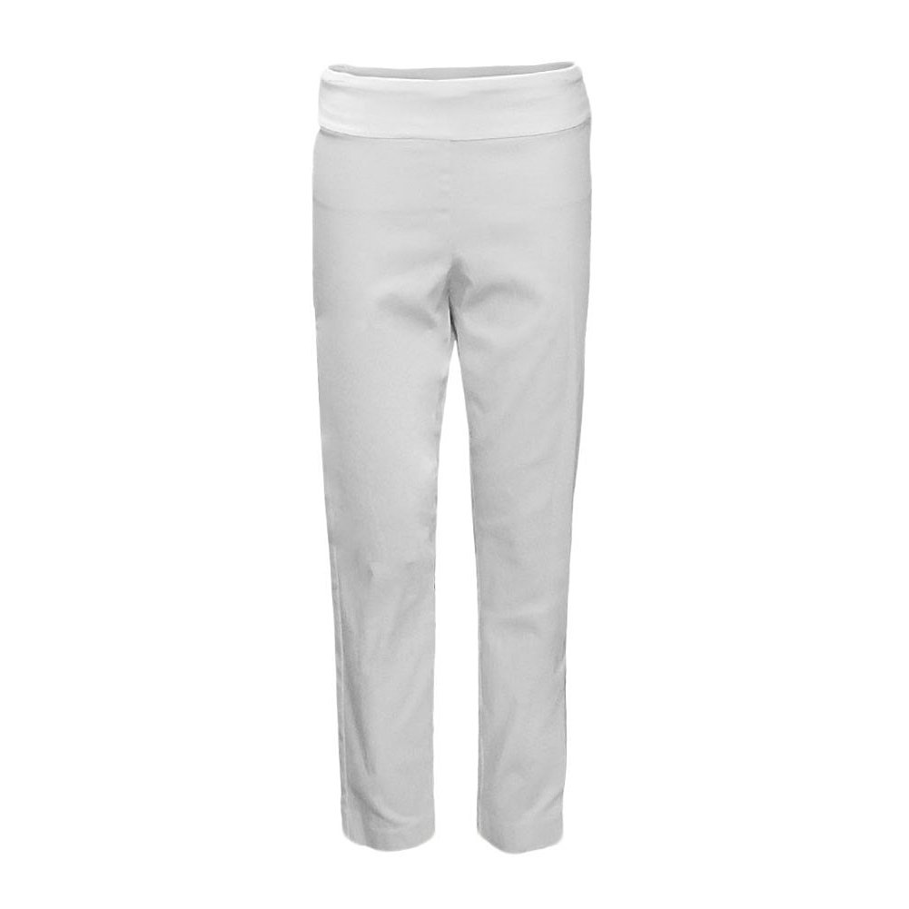 Krazy Larry Pull on Ankle Pants (10, White)