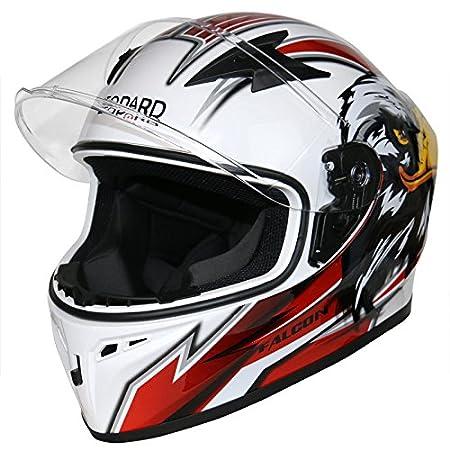 Leopard LEO-817 Full Face Motorcycle Motorbike Helmet ECER 22.05 Matt Black S 55-56cm
