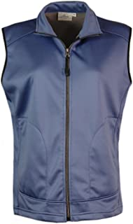 product image for Akwa Made in USA Women's Wind and Water Resistant Full Zip Soft Shell Fleece Vest