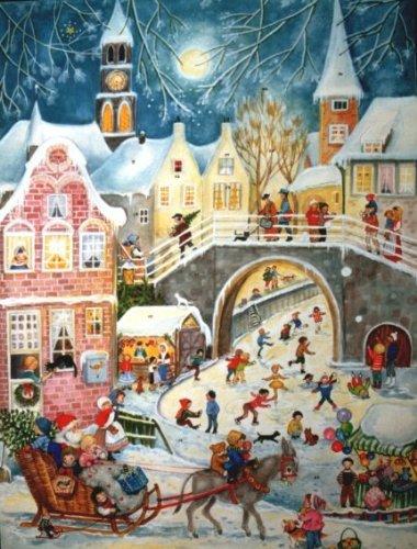 Santa Sleigh Ride German Christmas Advent - Santas Sleigh Calendar Advent