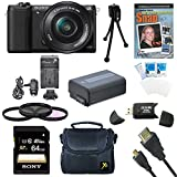 Cheap Sony a5100 ILCE5100L/B ILCE5100L ILCE5100 ILCE5100lb 16-50mm Interchangeable Lens Camera w/ 3-Inch Flip Up LCD (Black) Bundle w/ Sony 64GB Class 10 SD card, Spare Battery, Rapid AC/DC Charger, + More