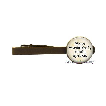 Clip de corbata con cita de amante de la música
