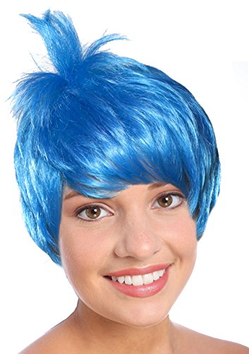 Blue Joyful Pixie Character Costume Wig for Adults