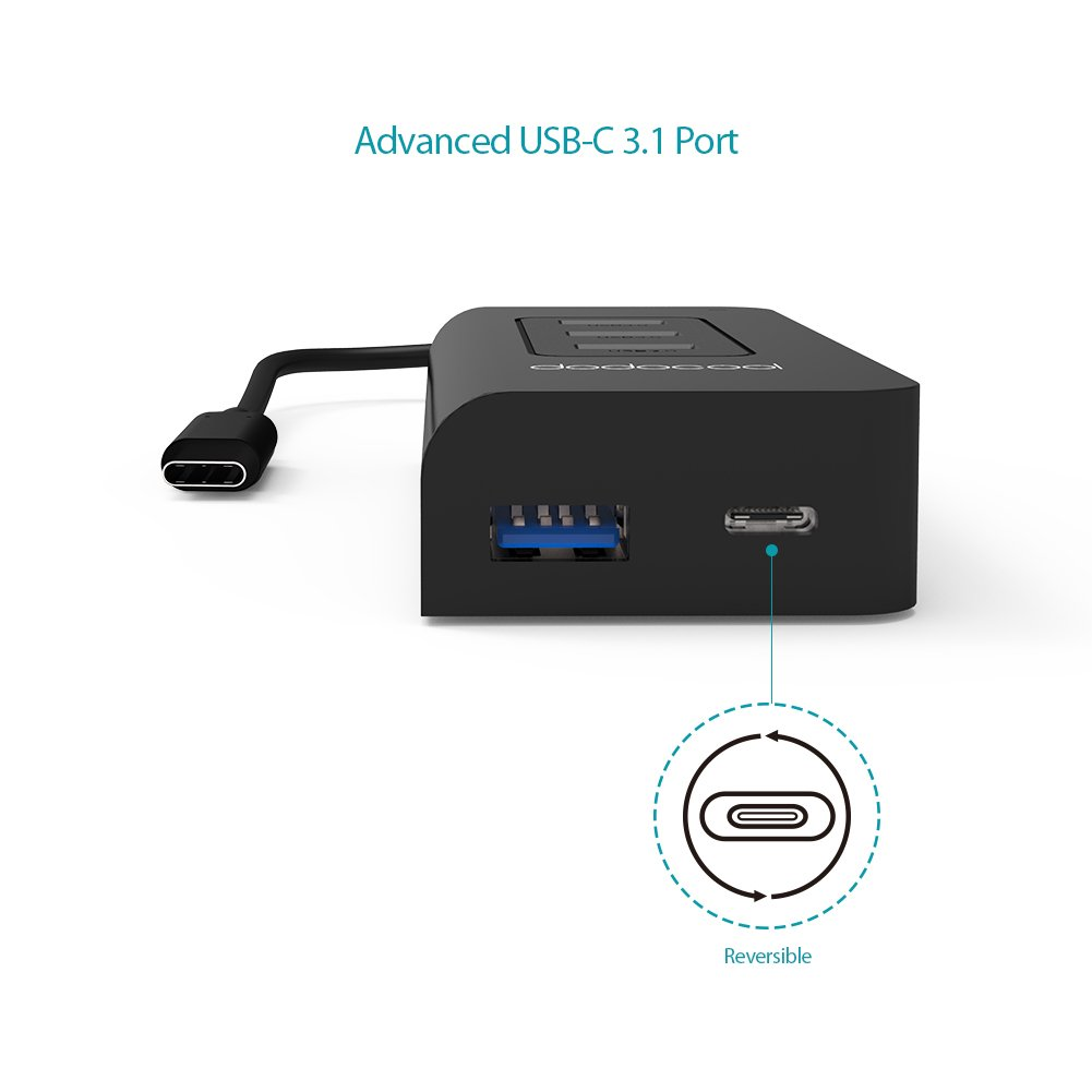 dodocool USB C Hub with 4 USB 3.0 Ports and Type C Port SuperSpeed Power Delivery for Apple New MacBook/Google ChromeBook Pixel by dodocool (Image #6)