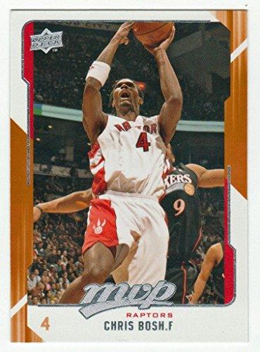 4 Chris Bosh Cards 08/09 Topps Chrome #134 04/05 Fleer Skybox L.e. #32 08/09 Ud Mvp Team Mvp #198 05/06 Topps #160 Toronton Raptors Basketball Cards 06 Topps Team Basketball Card