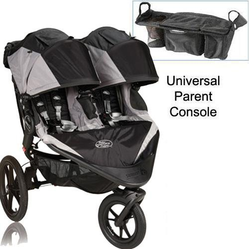 Baby Jogger Summit X3 Double Jogging Stroller with Parent Console - Black Gray by Baby Jogger