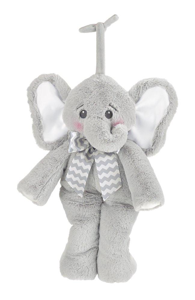 Bearington Baby Lil' Spout Hush-A-Bye Elephant Musical Crib Pull