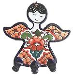 Talavera Ceramic Angel Key Rack Mexican Home Decor - Wall Mounted Key Hook - Decorative Key Organizer Rack - Key Holder - Multicolor