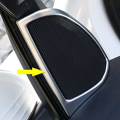 Rqing for Mercedes Benz GLC GLC300 X 205 2016 2017 2018 2019 ABS Interior Tweeter Sound Speaker Cover Trims (Silver Paint)