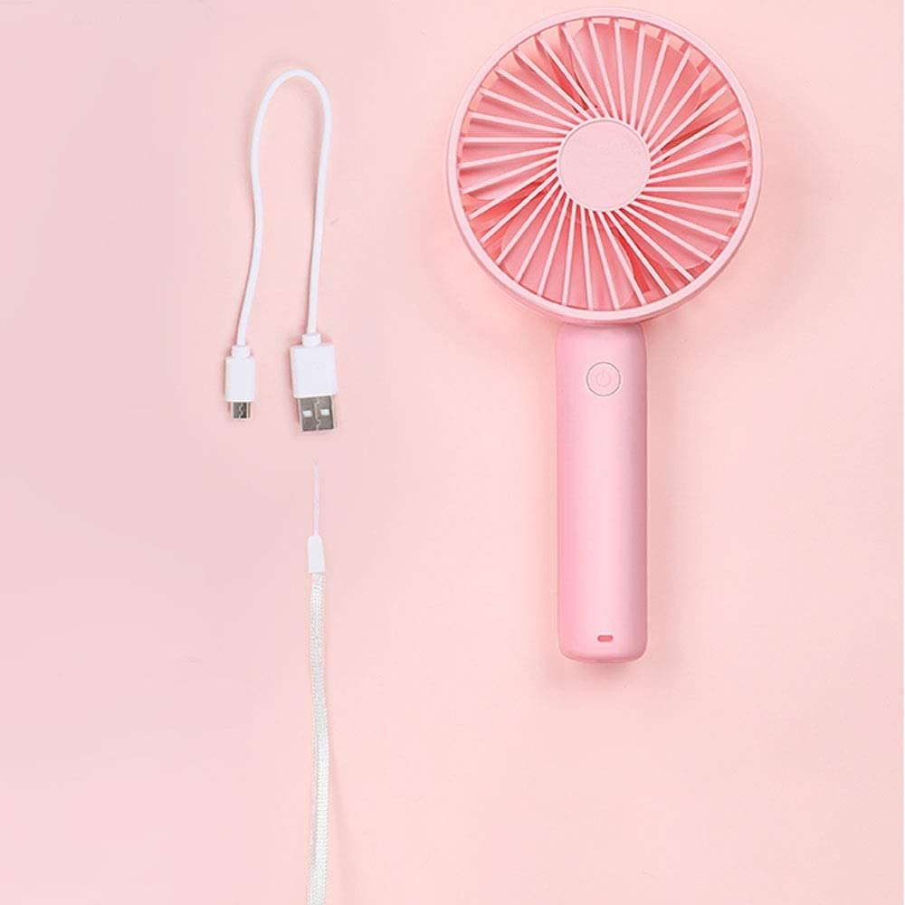 Small Fan 10.5421.7cm//4.21.68.68 Inches, Blue//Pink//White Color : Pink Mini USB Cute Small Fan Large Wind Yougou01 Electric Fan Hand-held Portable Student Dormitory Fan