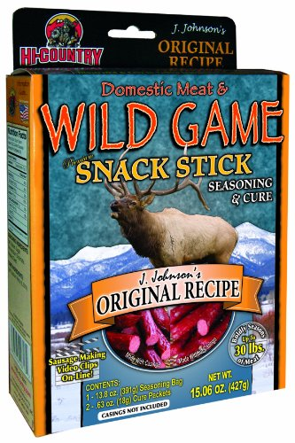 Hi-Country Snack Foods Domestic Meat and Wild Game 15.06 oz. J Johnsons Original Recipe Home Made Snack Stick Sausage Spice Kit ()