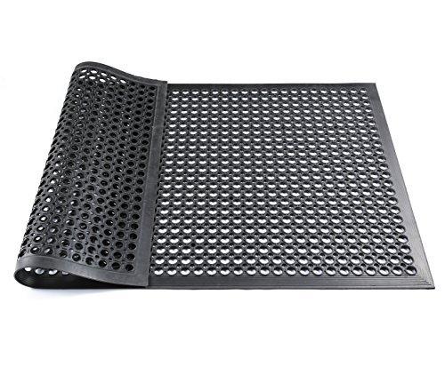 Hefty Mat Anti-fatigue RubberMatting for wet rooms,Workbenches,Garage,Workshop and other Wet area, Black,3 feet ×5 feet ×1/2 inch (Floor Shop Mats)