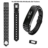 COOSA Wristband Replacement Heart Shaped Accessory Band for Fitbit Alta Ergonomically Designed for Men Women and Kids(Available in 18 Colors and 2 Sizes) (Large, Black)