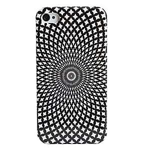 Procesamiento de dos días -Caso especial estilo de red de protección para los iPhone 4 y 4S (negro)