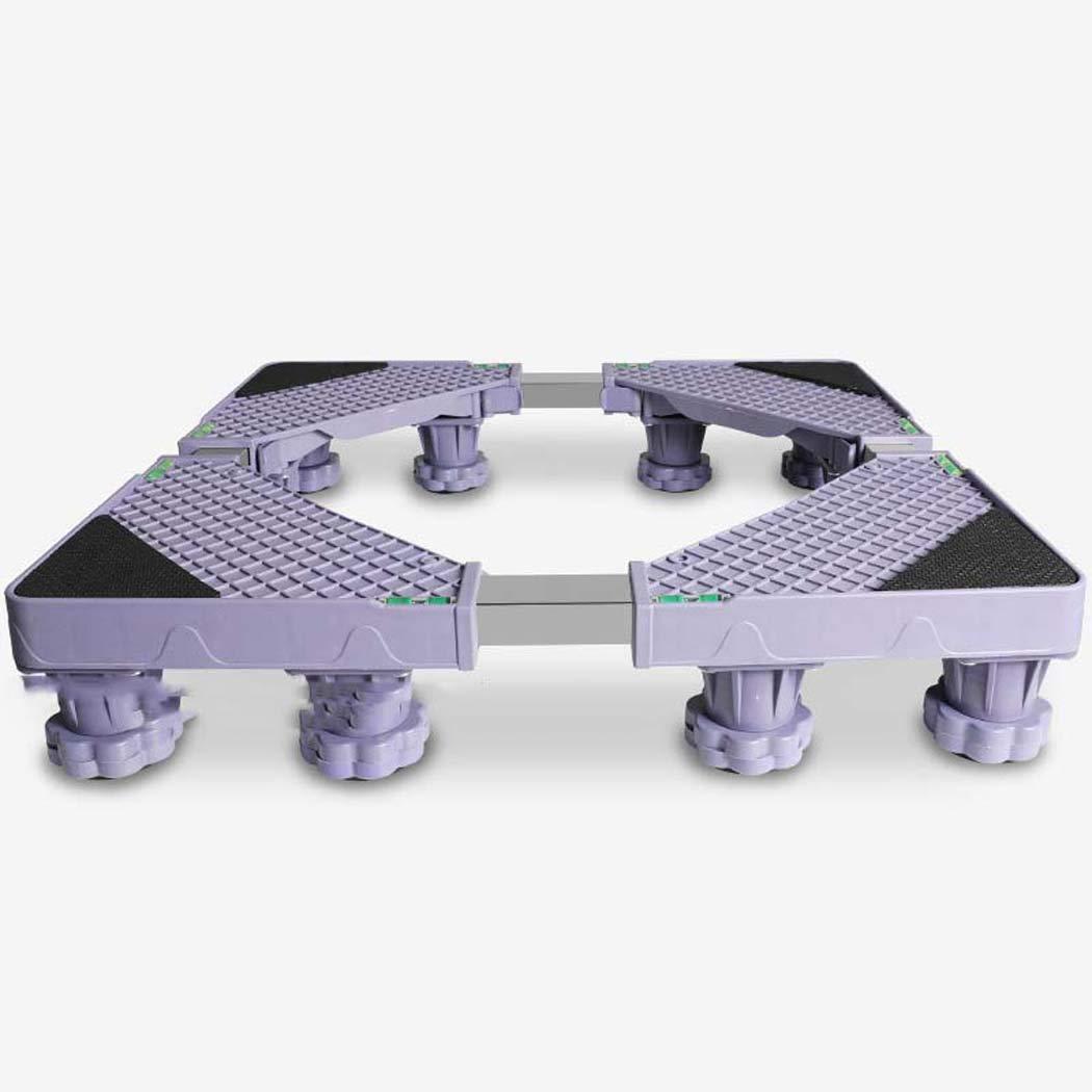 DSHBB Washing Machine Base, Universal Multi-functional Adjustable Base With Casters,Stainless Steel Bracket For Washing Machine Pedestal Fridge Base Rack (Color : +8)
