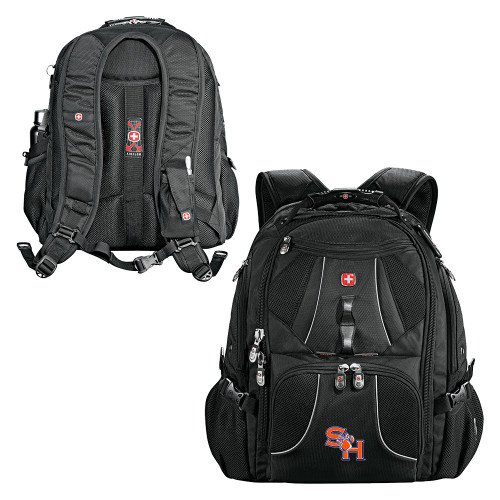 SHSU Wenger Swiss Army Mega Black Compu Backpack 'SH Paw Official Logo' by CollegeFanGear