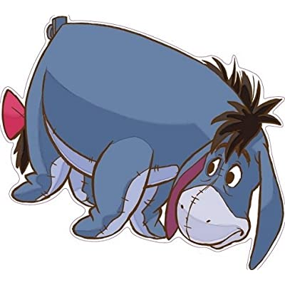 9 Inch Eeyore Winnie The Pooh Disney Removable Peel Self Stick Adhesive Vinyl Decorative Wall Decal Sticker Art Kids Room Home Decor Girl Boy Children Bedroom Nursery Baby 9 x 8 Inch: Baby