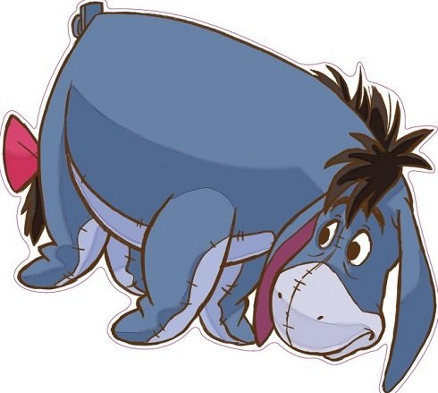 Eeyore Decals - 9 Inch Eeyore Winnie the Pooh Disney Removable Peel Self Stick Adhesive Vinyl Decorative Wall Decal Sticker Art Kids Room Home Decor Girl Boy Children Bedroom Nursery Baby 9 x 8 Inch