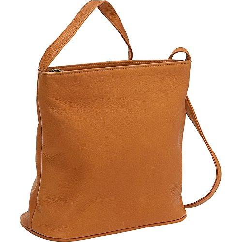 le-donne-leather-zip-top-shoulder-bag-tan