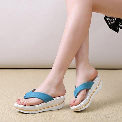 colore uk4 Dimensioni Donna Eu36 Pattini Di blu Le Blu Freddi Modo Pantofole Scarpe Da Sandali Del bianco Spesse Estate cn36 Donne Haizhen verde Femmine Per Blu Mare StxqwRwB