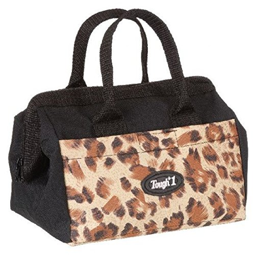 JT International Tough-1 Groomer Accessory Bag in Prints Tooled Leather Brown