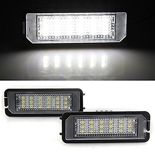 Price comparison product image DLLL 2 White 18 LED License Plate Lights Lamp Bulb for VW Golf5 Golf6