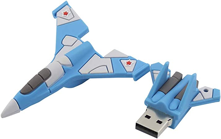 USB Flash Drive Cartoon Airplane Pen Data Storage Memory Stick for PC Laptop