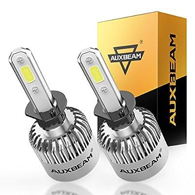 Auxbeam LED Headlights F-S2 Series H1 P145S Headlight Bulbs High Brightness H1 P145S Headlight Conversion Kit with 2 Pcs of H1 Bulbs 72W 8000lm COB Led Chips Single Beam: Automotive