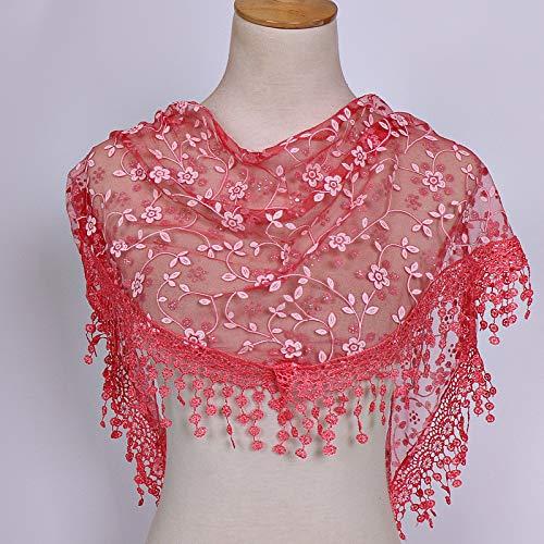Soie Franges En Rouge Angelof Automne Dentelle Hiver hiver Watermelon Vogue Écharpe Long Femme Foulards Foulard Bandage Mince Xqx7CSwx