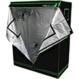 Yield Lab 48'' x 24'' x 60'' Grow Tent with Viewing Window – For Indoor, LED, T5, CFL, HPS, CMH – Hydroponic, Aeroponic, Horticulture Growing Equipment