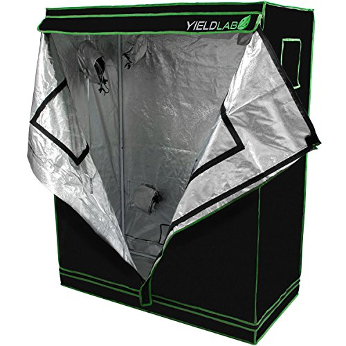 Yield Lab 48'' x 24'' x 60'' Grow Tent with Viewing Window – For Indoor, LED, T5, CFL, HPS, CMH – Hydroponic, Aeroponic, Horticulture Growing Equipment by Yield Lab