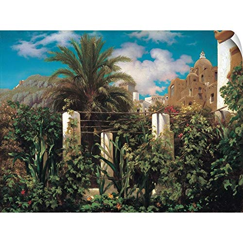 CANVAS ON DEMAND A Garden in Capri Wall Peel Art Print, 24