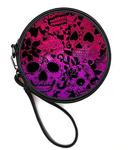 Case Bags20 Leather Bag the Sugar Fashion Skull Print Makeup Round Makeup Sugar Dead Female Cosmetis Round of Day YxwdTSq