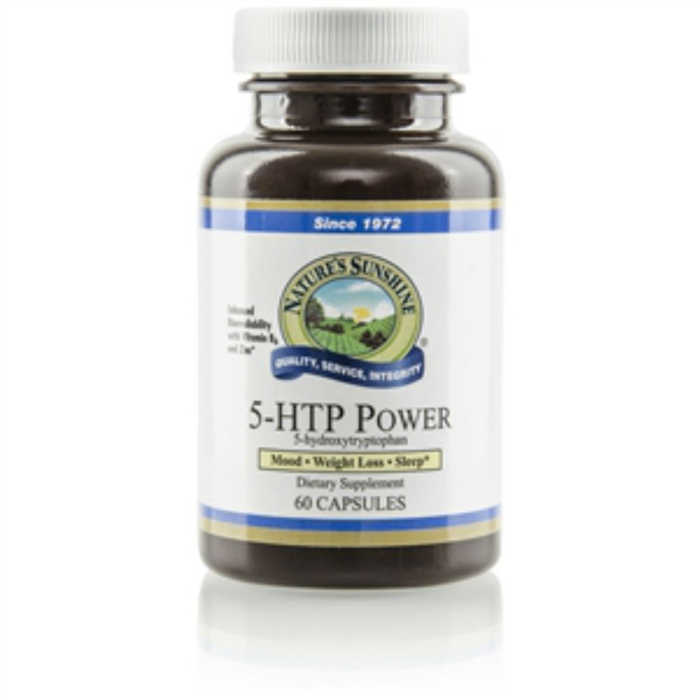 Nature's Sunshine 5-htp Power Dietary Herbal Supplement Support Nervous & Immune System 60 Capsules Each (Pack of 2)