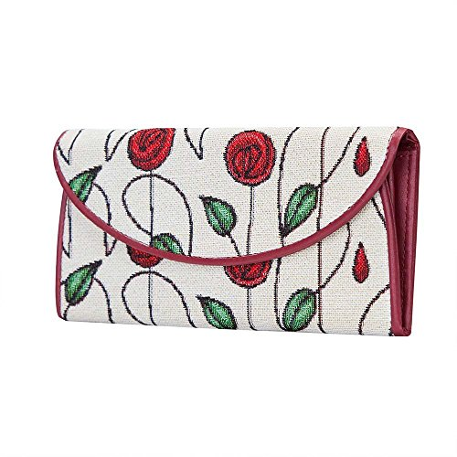 ID Mackintosh Holders with Red Style Purse Women Card Rennie RMSP Signare ENVE Wallet Roses Envelop Z1znqX