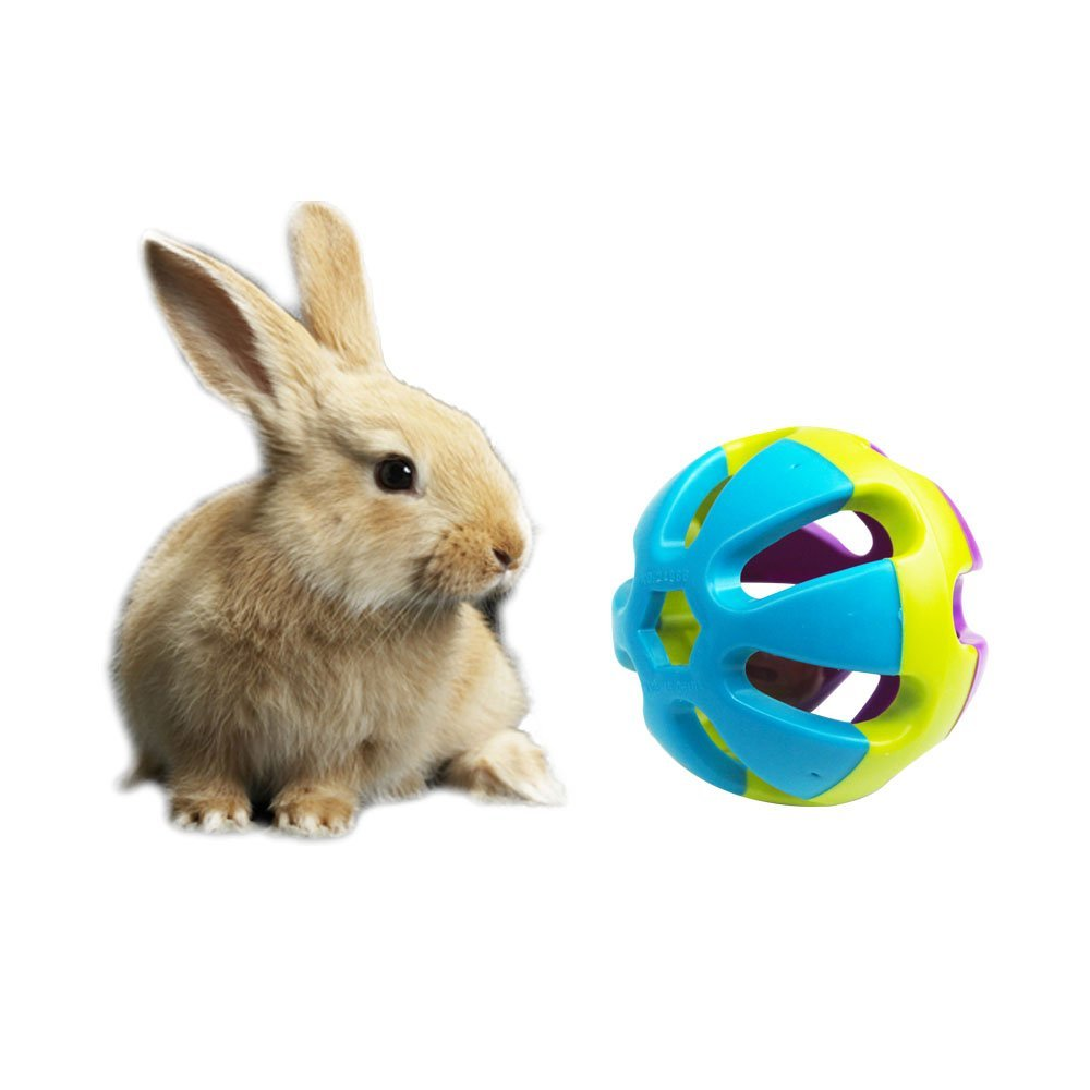 "2-Pack,Colorful Bell Sound Ball Fun Playing Toy,Dog Cat Rabbit Toy,2.93""x2.93""x2.93"""