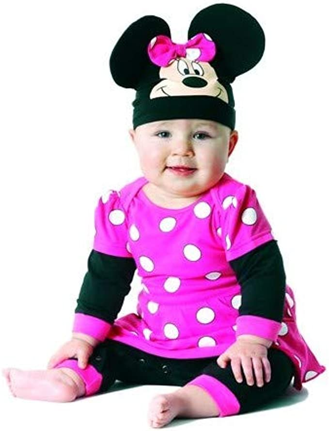 Playama - Pijama disfraz minnie mouse talla 6-12 meses: Amazon.es ...