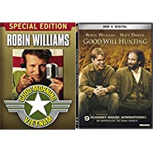 Robin Williams Good Morning Vietnam & Good Will Hunting Set [DVD] 2 Pack Bundle Double Feature Movie Set
