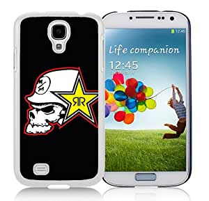 metal mulisha rockstar White Case for Samsung Galaxy S4 i9500,Prefectly fit and directly access all the features
