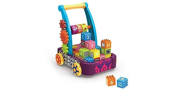 Andador Madera empuje engranaje Walker lo largo del juguete de ...
