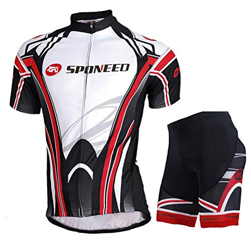 sponeed Mens Bicycle Jersey Polyester and Lycra Shirt Cyclist Lights Size Asian XL/US L Multi