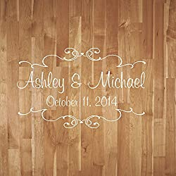 Wedding Dance Floor Decal Wedding Dance Floor Decal With Scrolls Vinyl Decor Reception Party Decor
