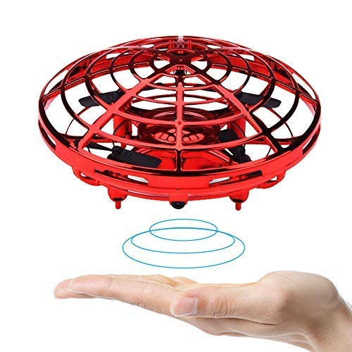 BOMPOW Boys Toys Kids Flying Drones Mini Hand Controlled Flying Ball Drone with 2 Speed and LED Light for Kids, Boys and Girls Gift (Red) by BOMPOW (Image #8)