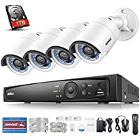 ANNKE 4.0MP True POE Security System 6.0MP NVR with 1TB Hard Drive and (4) HD 2688x1520p Weatherproof Cameras, Smart Search for Intelligent Playback and Video Content Analysis