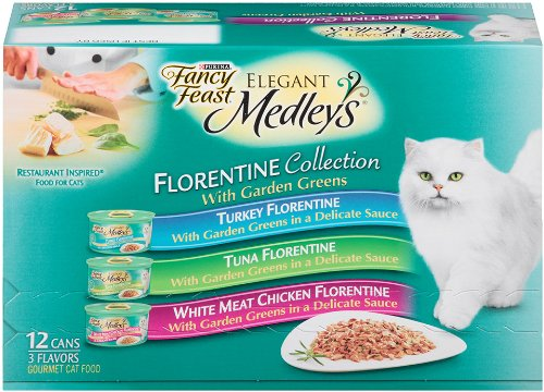 Variety Pack of Fancy Feast Elegant Medleys Wet Cat Food 3 oz Pack of 24